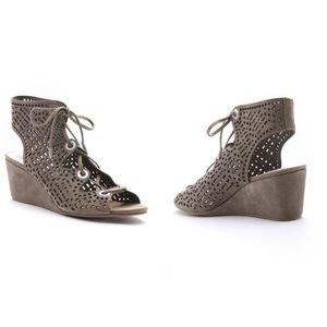 Dolce Vita Laras Perforated Lace Up Wedges